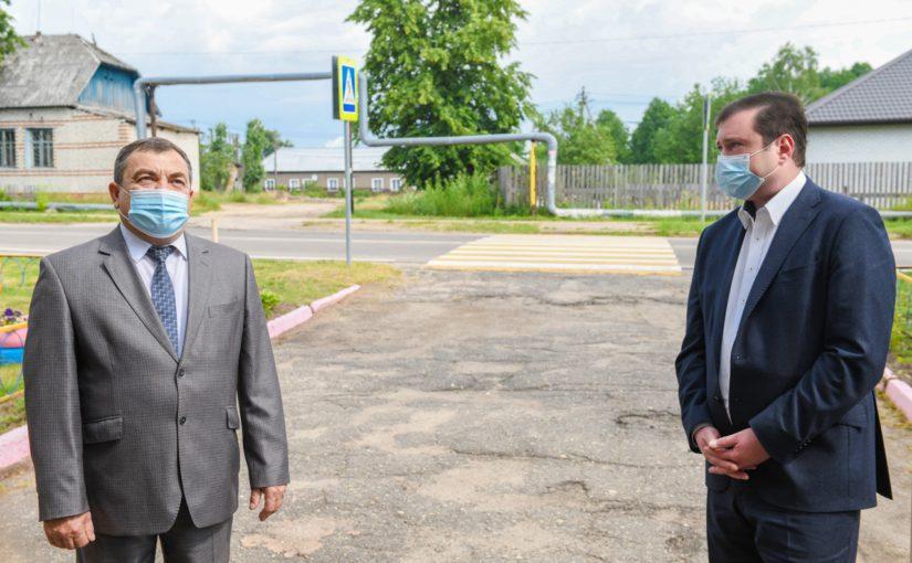 Рабочая поездка Губернатора Алексея Островского в Ершичский район
